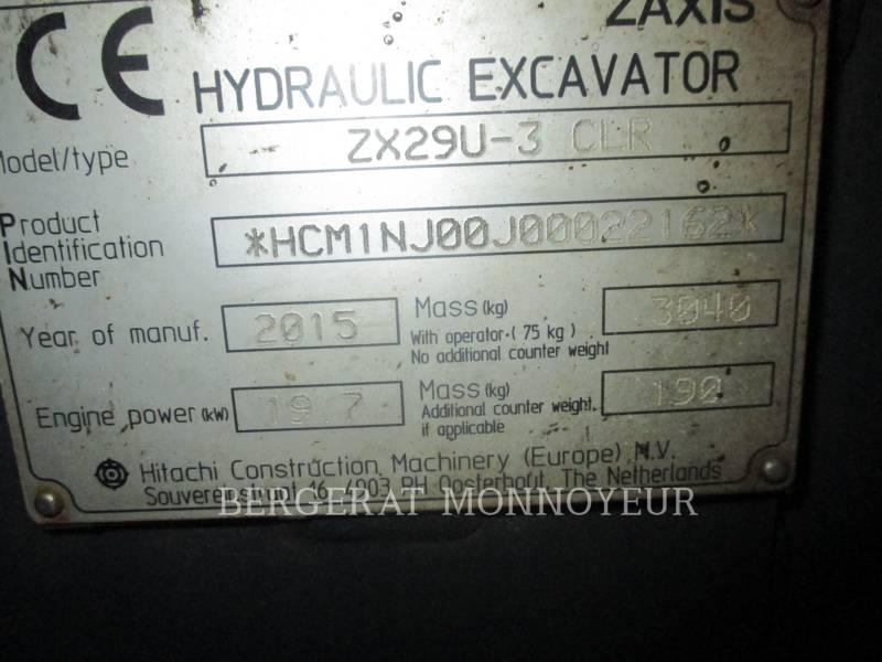 HITACHI TRACK EXCAVATORS ZX29 equipment  photo 13