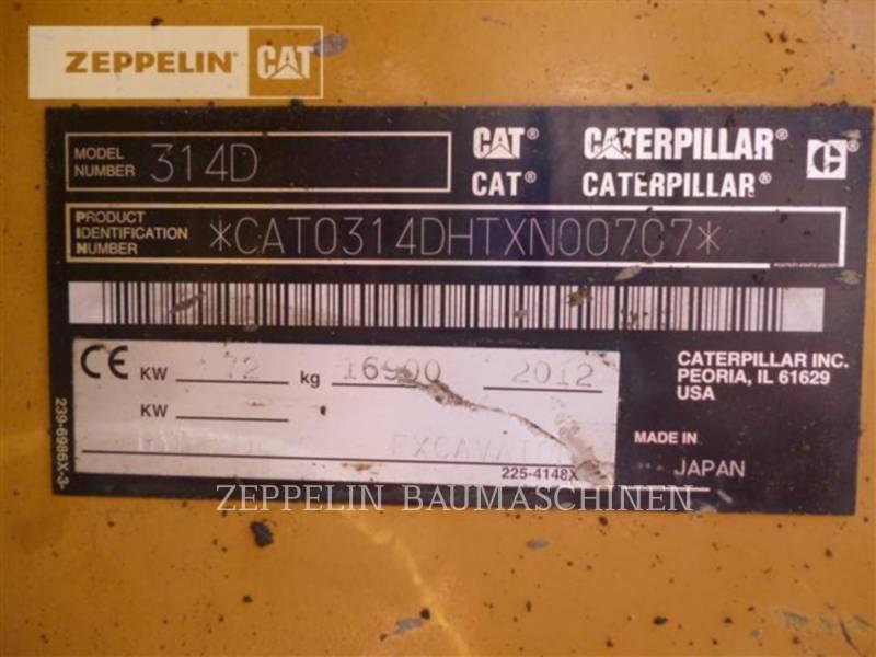 CATERPILLAR ESCAVATORI CINGOLATI 314DLCR equipment  photo 19