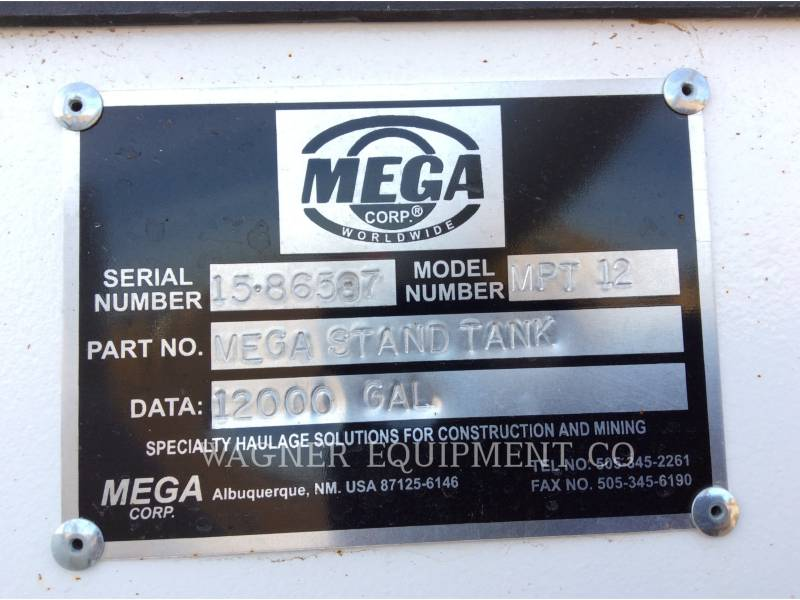 MEGA VAGONES DE AGUA 12,000 TWR equipment  photo 7
