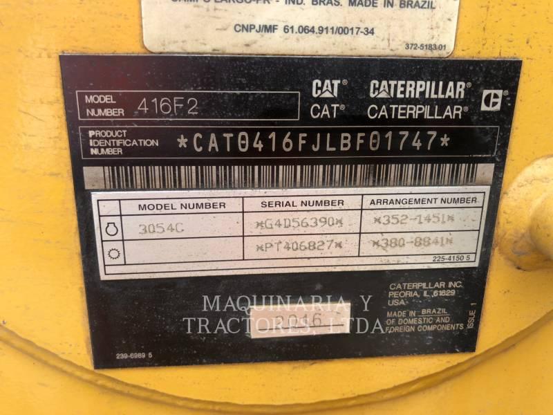 CATERPILLAR BAGGERLADER 416F2STLRC equipment  photo 8