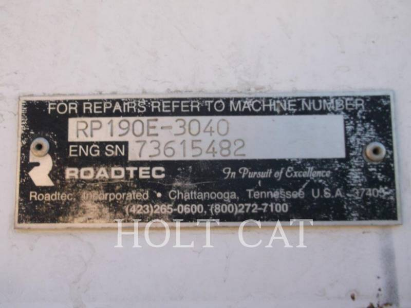 ROADTEC ASPHALT PAVERS RP190E equipment  photo 5