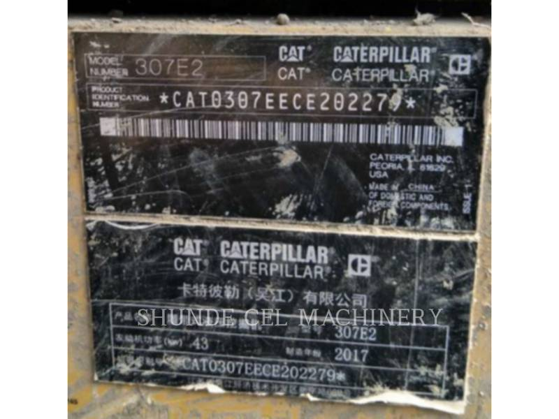 CATERPILLAR PELLES SUR CHAINES 307E2 equipment  photo 2