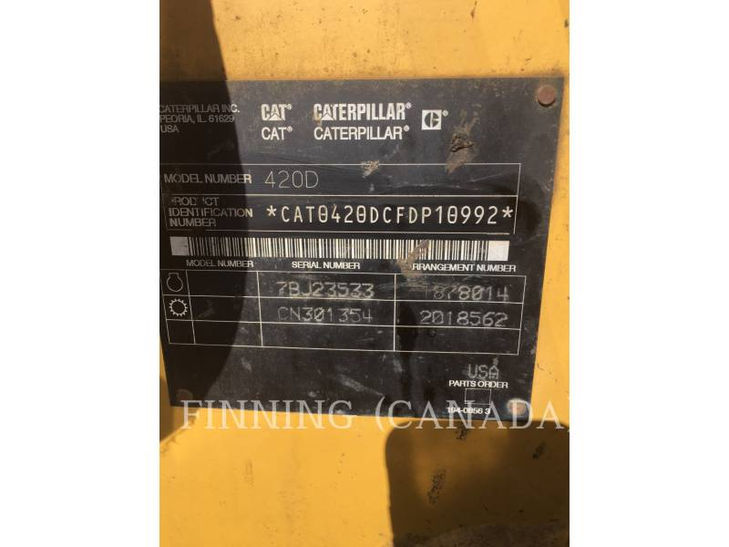 CATERPILLAR BACKHOE LOADERS 420D equipment  photo 10