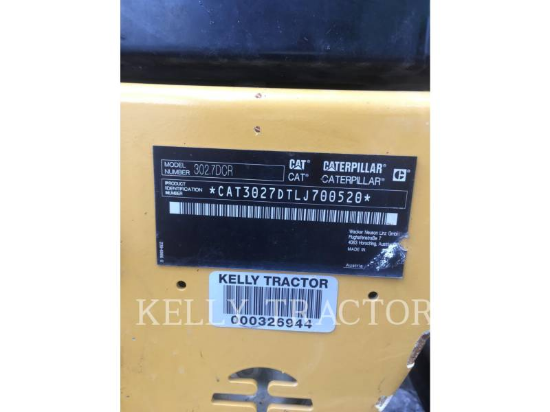 CATERPILLAR KETTEN-HYDRAULIKBAGGER 302.7DCR equipment  photo 14