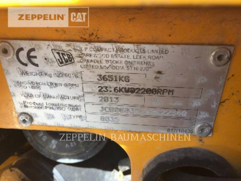 JCB RUPSGRAAFMACHINES 8035ZTS equipment  photo 12
