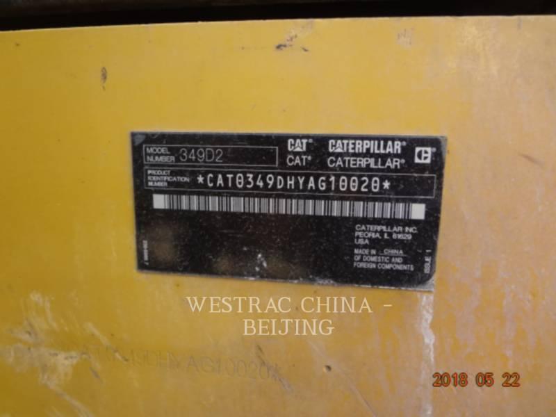 CATERPILLAR TRACK EXCAVATORS 349D2 equipment  photo 2