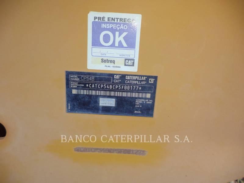 CATERPILLAR VIBRATORY SINGLE DRUM PAD CP54B equipment  photo 8