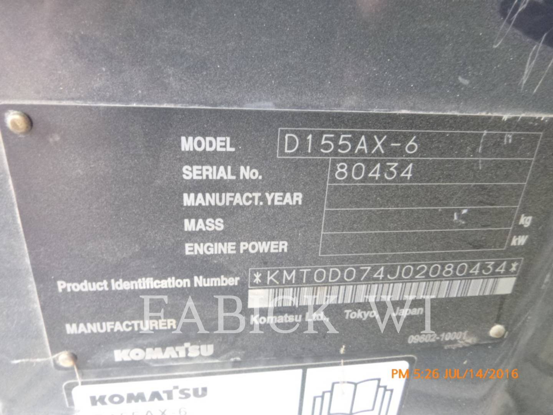 Detail photo of 2008 Komatsu D155AX-6 from Construction Equipment Guide