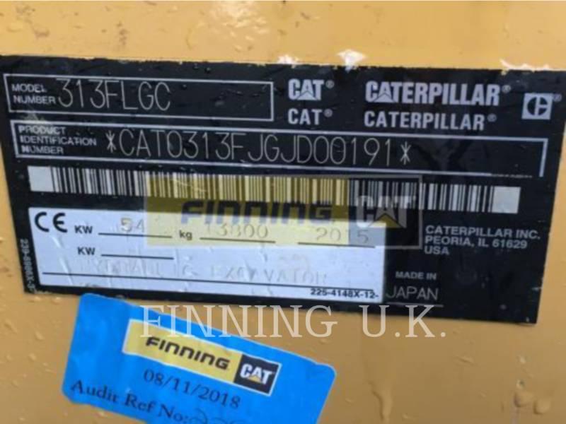 CATERPILLAR トラック油圧ショベル 313FLGC equipment  photo 7
