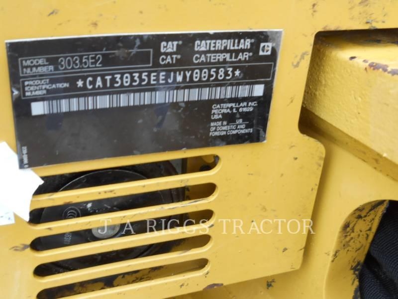 CATERPILLAR TRACK EXCAVATORS 303.5E2CR equipment  photo 21