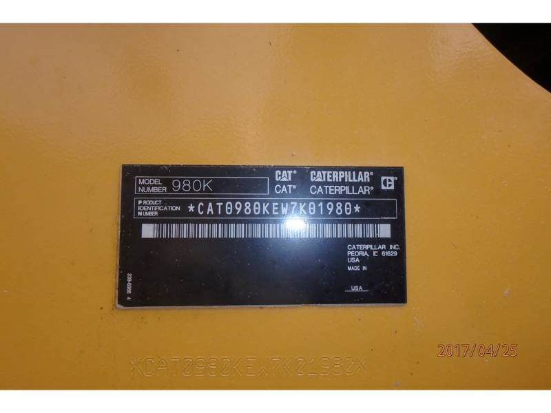 CATERPILLAR RADLADER/INDUSTRIE-RADLADER 980K equipment  photo 17