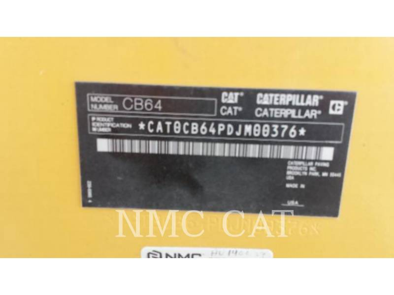 CATERPILLAR COMPACTORS CB64 equipment  photo 6