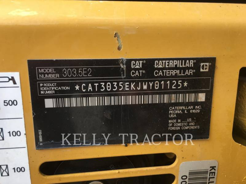 CATERPILLAR EXCAVADORAS DE CADENAS 303.5E2CR equipment  photo 16