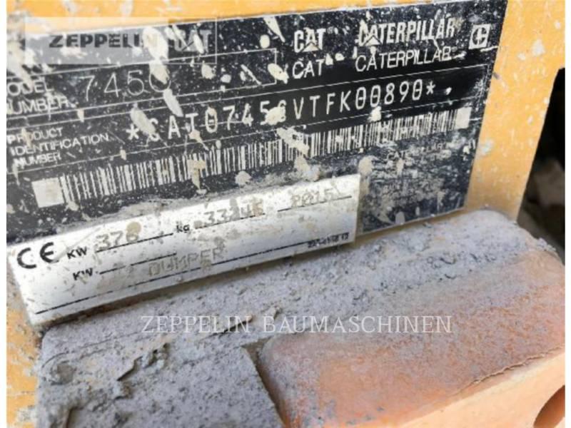 CATERPILLAR DUMPER ARTICOLATI 745C equipment  photo 5
