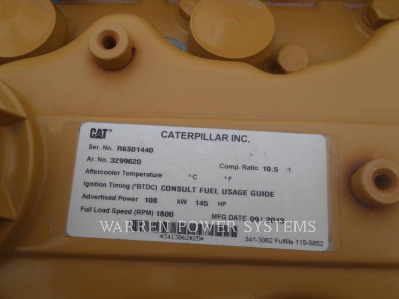 CATERPILLAR STATIONARY - NATURAL GAS G3306B NA equipment  photo 2