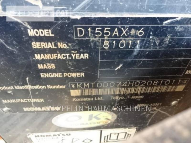 KOMATSU LTD. TRACTEURS SUR CHAINES D155AX-6 equipment  photo 7