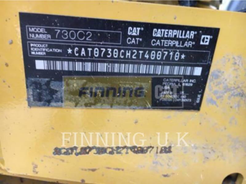 CATERPILLAR KNICKGELENKTE MULDENKIPPER 730C2 equipment  photo 2