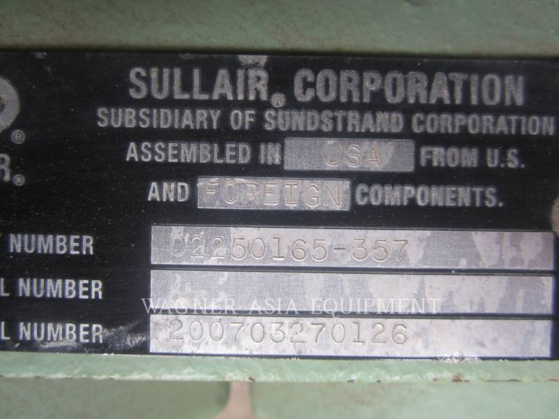 SULLAIR COMPRESOR DE AIRE 750HH equipment  photo 15