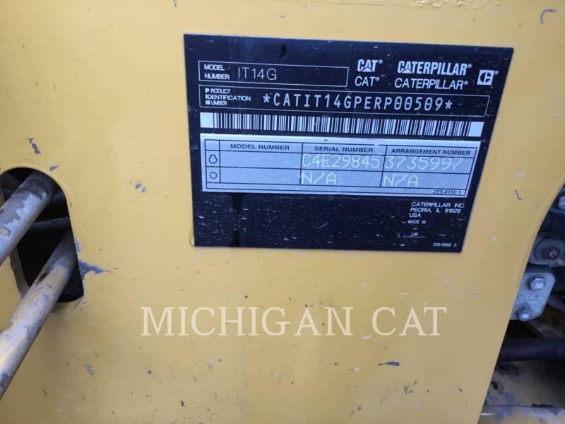 CATERPILLAR ホイール・ローダ/インテグレーテッド・ツールキャリヤ IT14G2 A equipment  photo 19