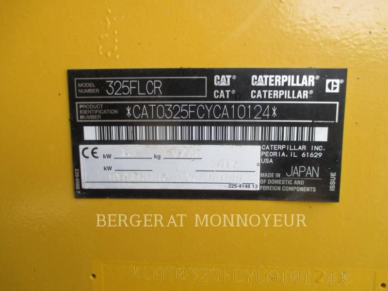 CATERPILLAR TRACK EXCAVATORS 325F CR equipment  photo 3