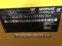 CATERPILLAR VIBRATORY DOUBLE DRUM ASPHALT CB64 R9 equipment  photo 9