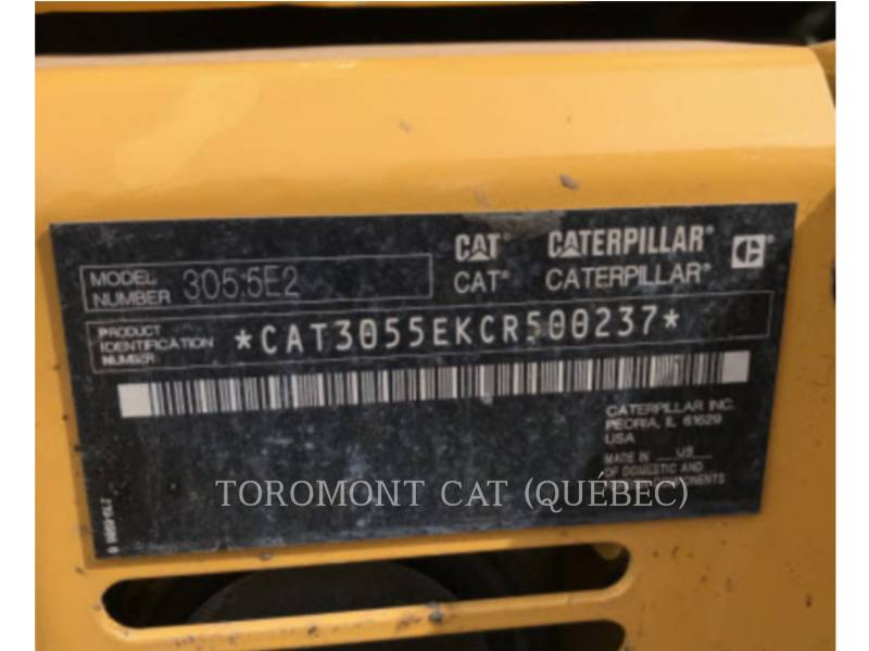 CATERPILLAR PELLES SUR CHAINES 305.5E2 CR equipment  photo 15