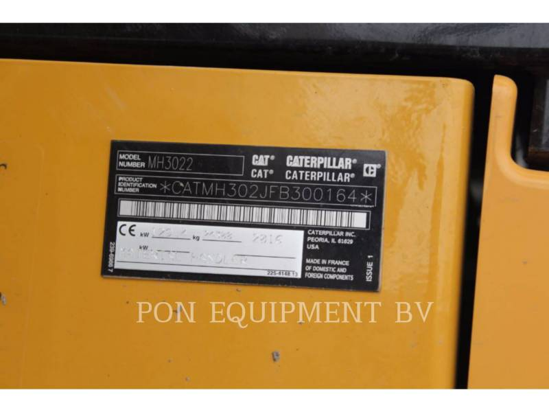 CATERPILLAR ESCAVADEIRAS DE RODAS MH3022 equipment  photo 5