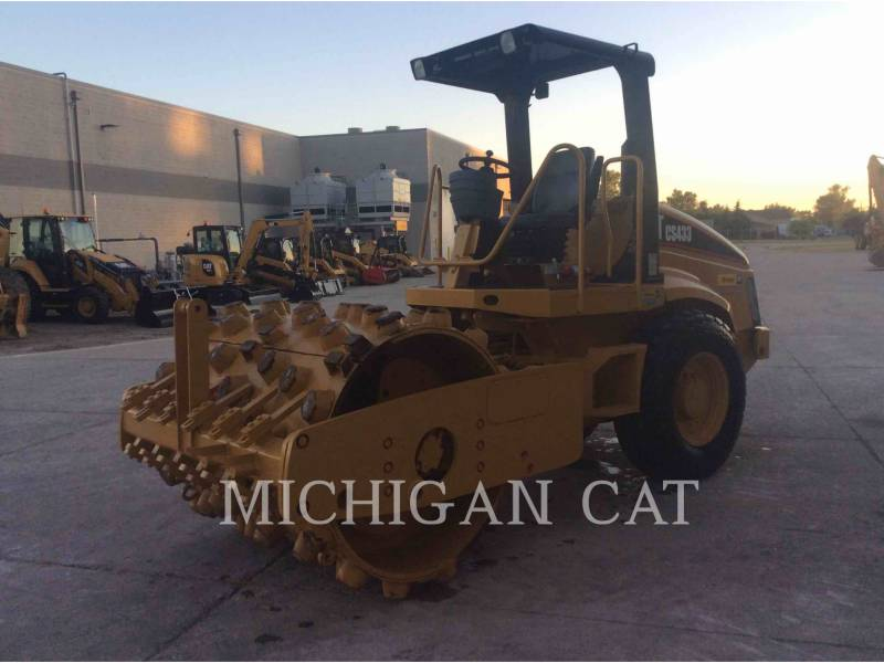 CATERPILLAR EINZELVIBRATIONSWALZE, GLATTBANDAGE CS-433E equipment  photo 1