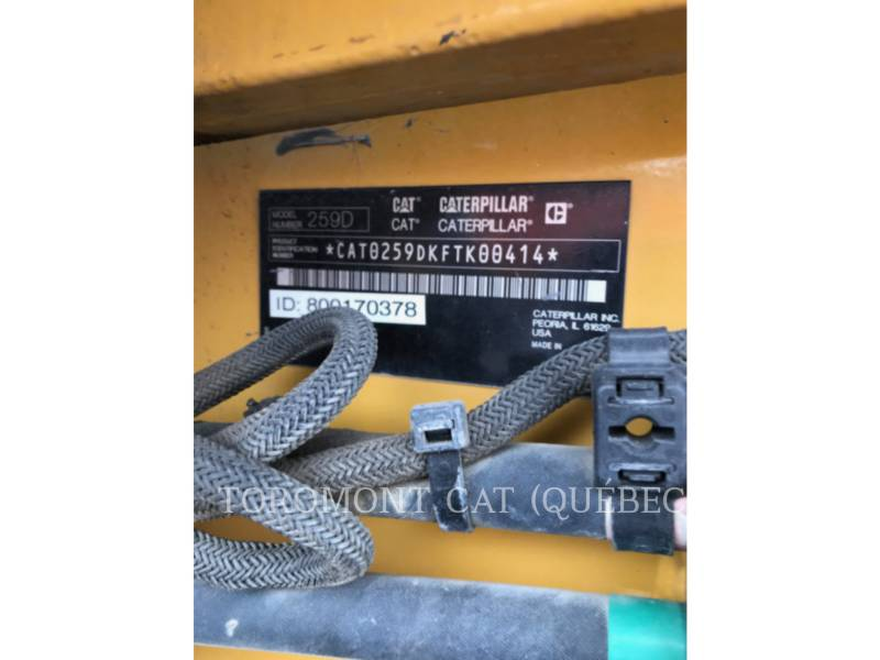 CATERPILLAR CHARGEURS SUR CHAINES 259D equipment  photo 11