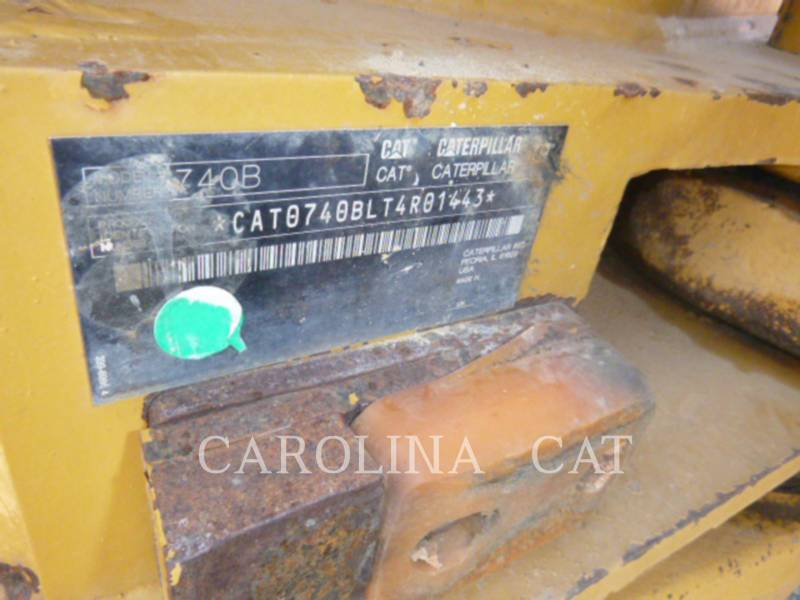 CATERPILLAR ARTICULATED TRUCKS 740B WT equipment  photo 10