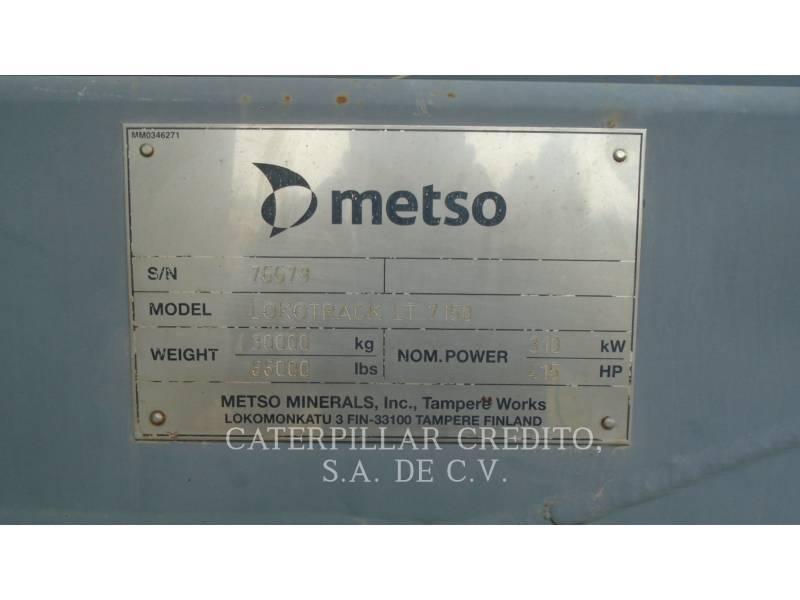 METSO CRUSHERS LT7150 equipment  photo 5