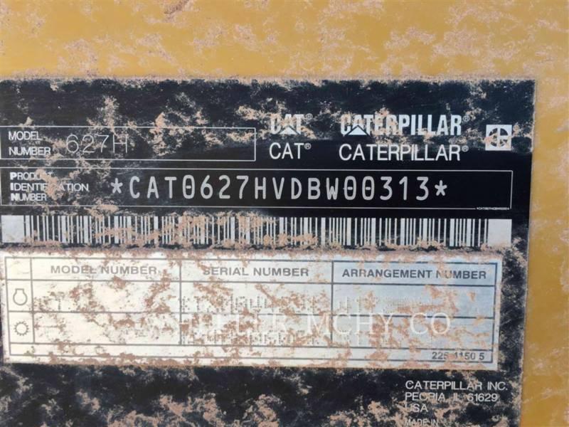 CATERPILLAR WHEEL TRACTOR SCRAPERS 627H equipment  photo 12