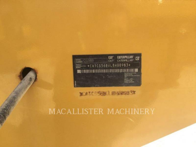 CATERPILLAR COMPACTEUR VIBRANT, MONOCYLINDRE LISSE CS56B equipment  photo 3