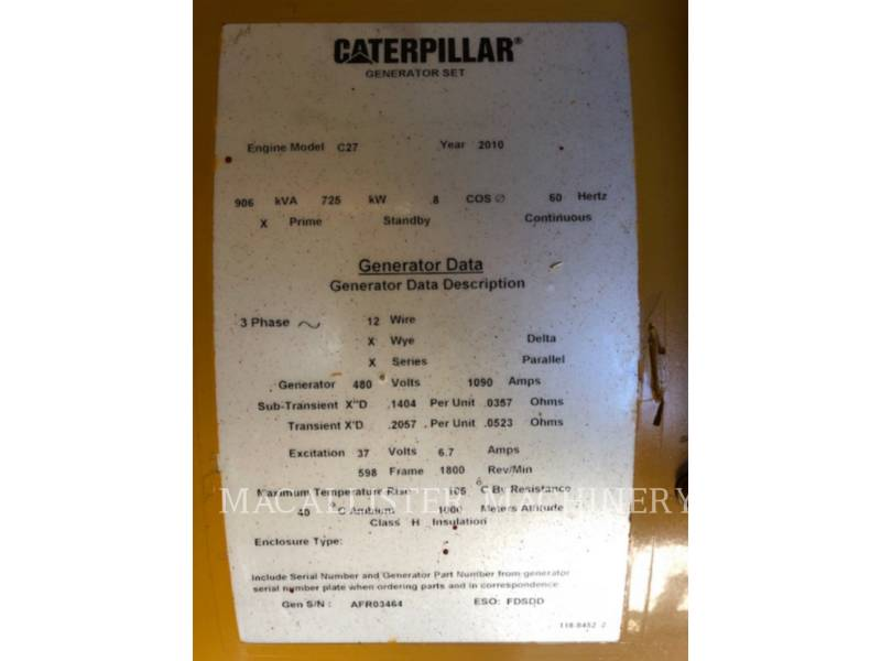 CATERPILLAR PORTABLE GENERATOR SETS C27 equipment  photo 10