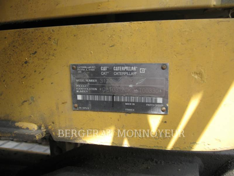 CATERPILLAR TRACK EXCAVATORS 312C equipment  photo 9