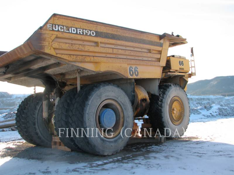 EUCLID-HITACHI OFF HIGHWAY TRUCKS R-190 equipment  photo 3