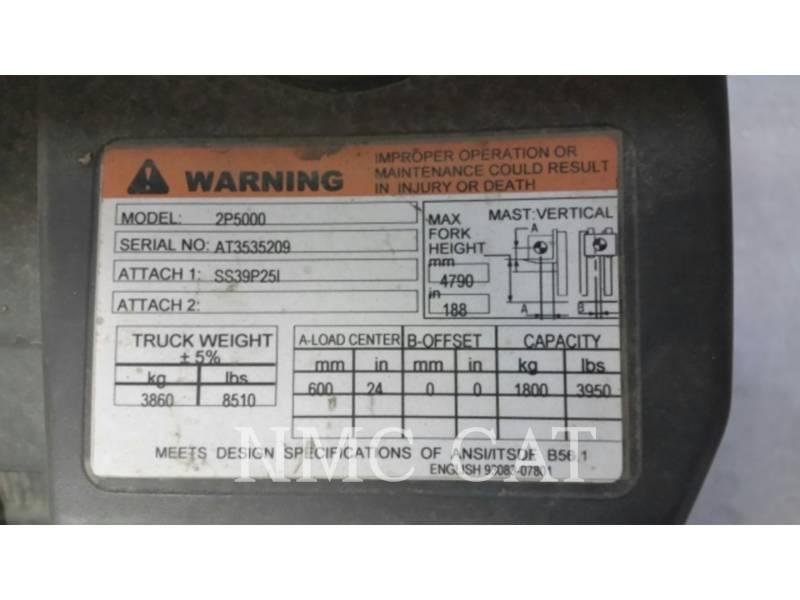 CATERPILLAR LIFT TRUCKS フォークリフト 2P5000GLE_MC equipment  photo 2