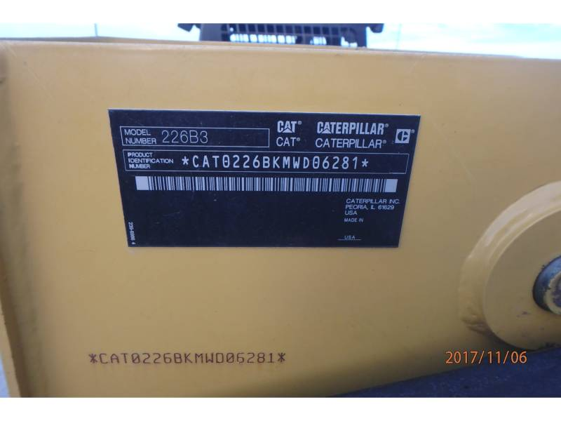 CATERPILLAR CHARGEURS COMPACTS RIGIDES 226B3 equipment  photo 14