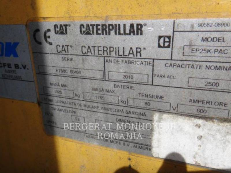 MITSUBISHI CATERPILLAR FORKLIFT FORKLIFTS EP25KPAC equipment  photo 5