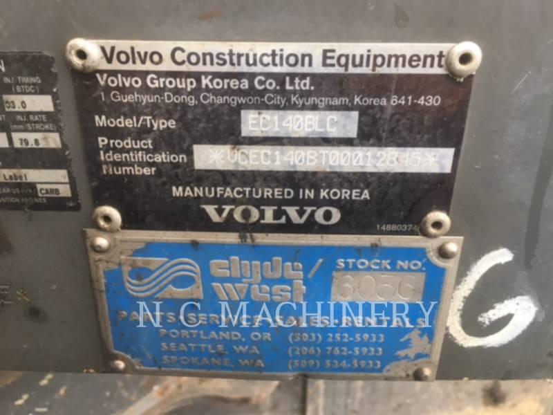 VOLVO CONSTRUCTION EQUIPMENT TRACK EXCAVATORS EC140BLC equipment  photo 2