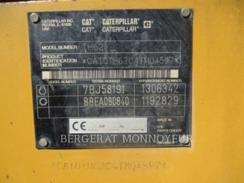 CATERPILLAR MANIPULADORES TELESCÓPICOS TH62 equipment  photo 13