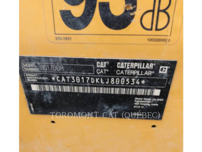 CATERPILLAR 履带式挖掘机 301.7D CR equipment  photo 7