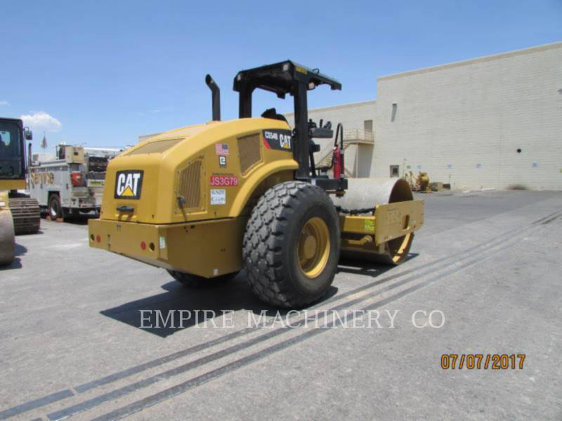 CATERPILLAR TRILLENDE ENKELE TROMMEL GLAD CS54B equipment  photo 1