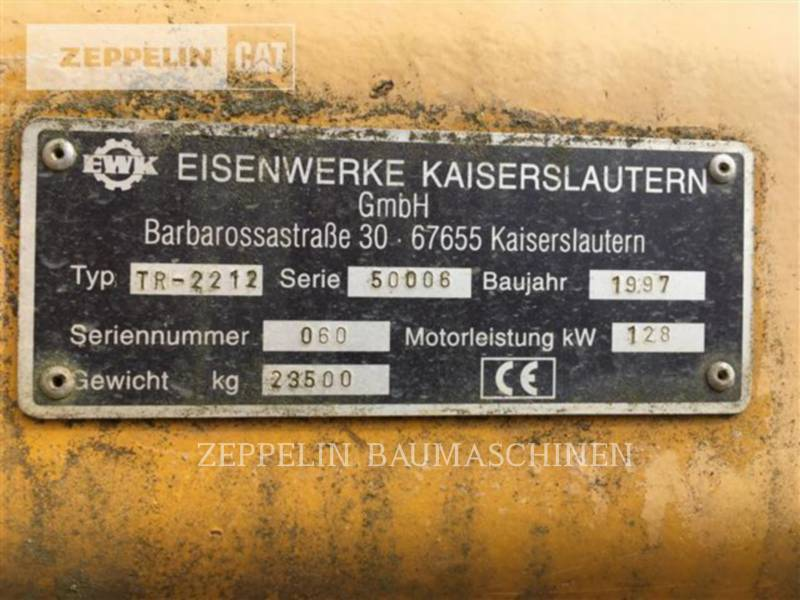E.W.K. TRACK EXCAVATORS TR2212 equipment  photo 21