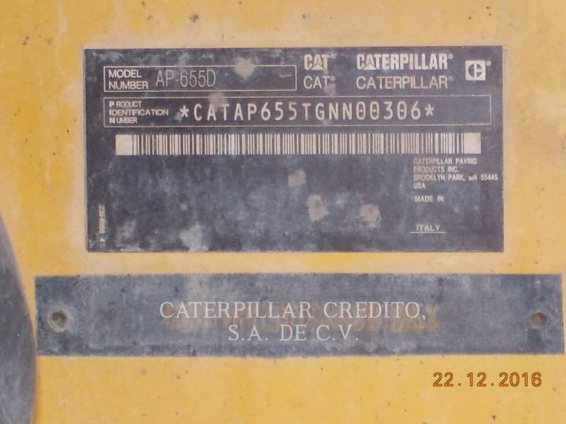 CATERPILLAR PAVIMENTADORA DE ASFALTO AP-655D equipment  photo 6