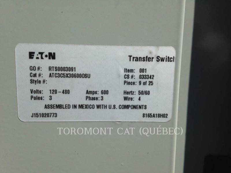 CATERPILLAR SYSTEMS COMPONENTS TRANSFER SW CAT ATC 600A 480V equipment  photo 10