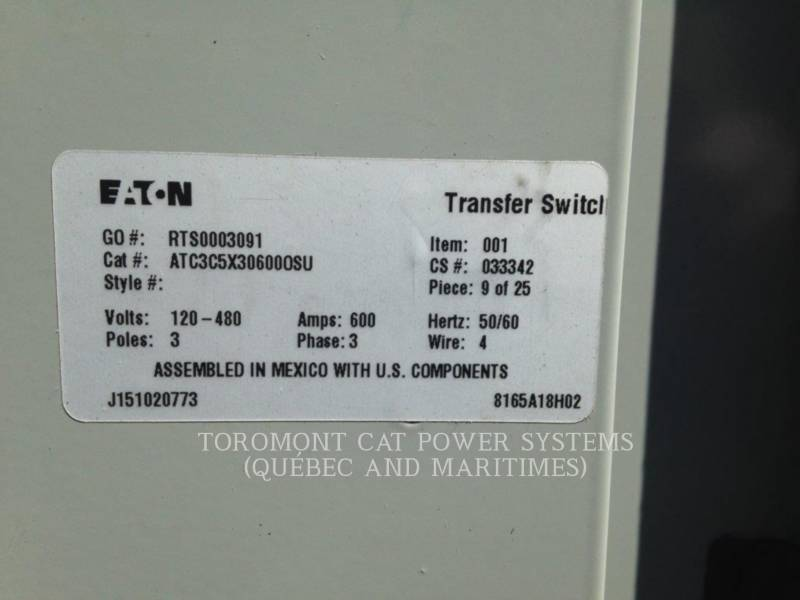 CATERPILLAR SYSTEMS / COMPONENTS TRANSFER_ SW_ CAT_ ATC_ 600A_ 480_600V equipment  photo 10