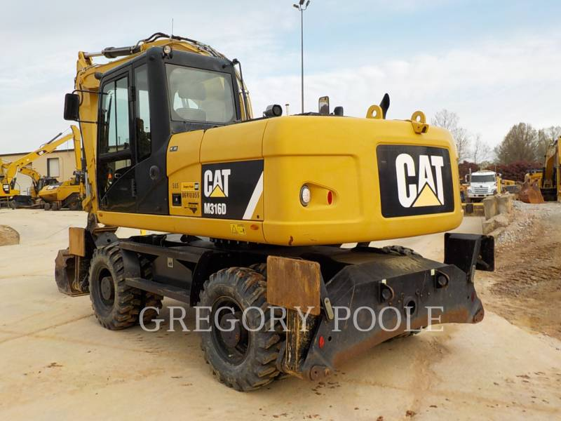 CATERPILLAR PELLES SUR PNEUS M316D equipment  photo 7