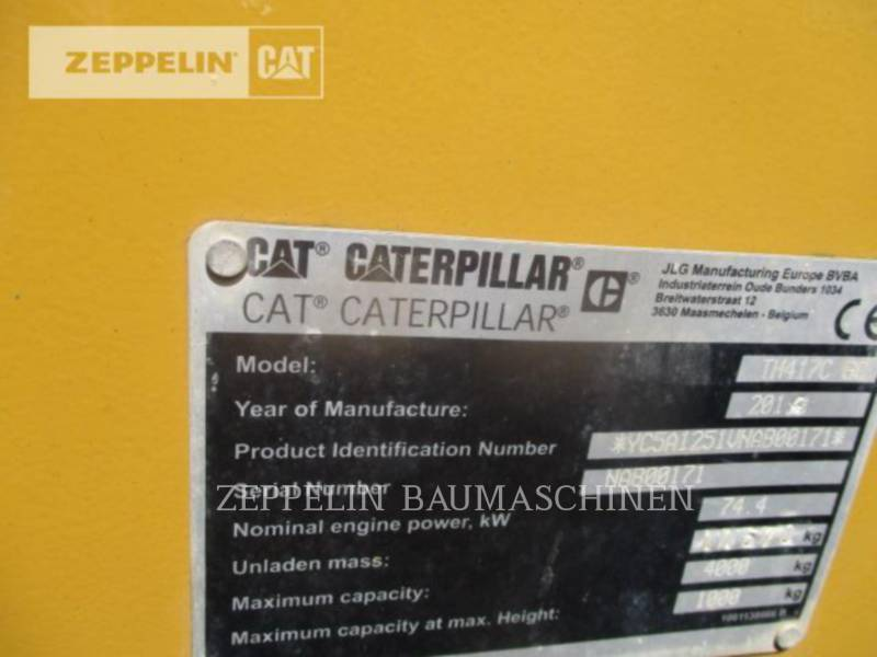 CATERPILLAR TELEHANDLER TH417CGC equipment  photo 9