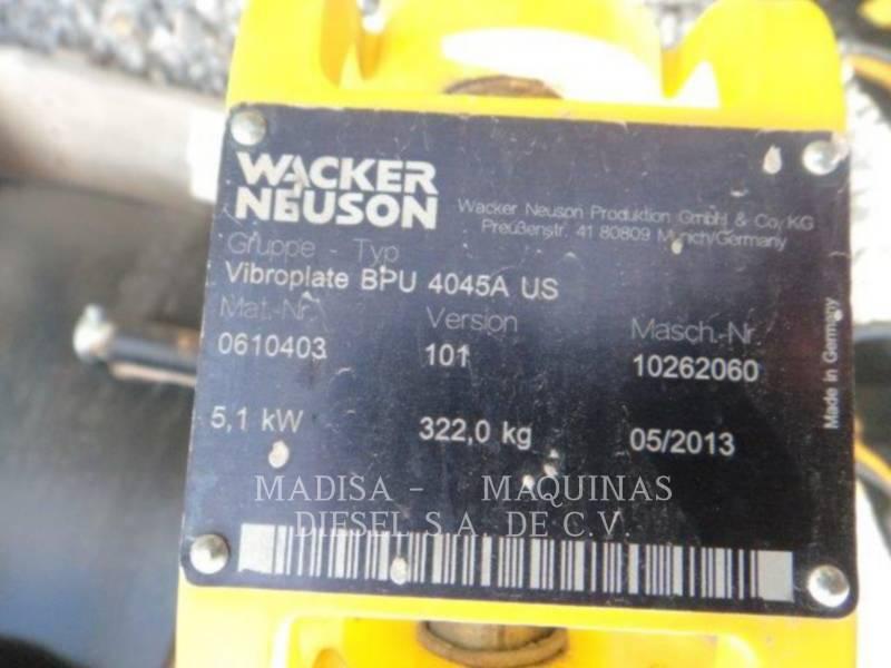 WACKER CORPORATION AG - VIBRATIONSPLATTENVERDICHTER BPU4045  equipment  photo 5
